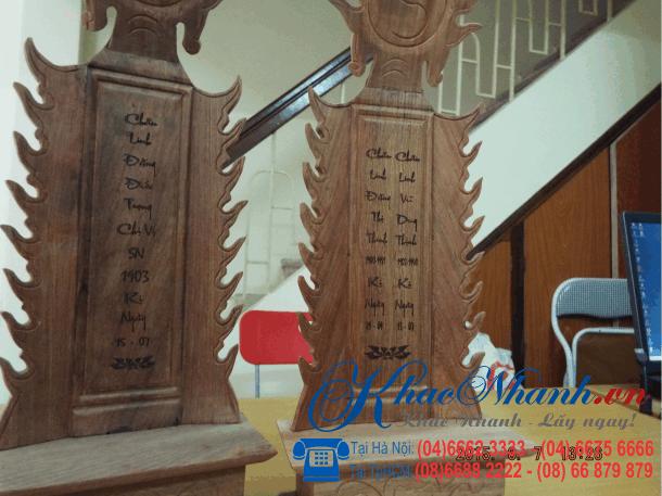 Nhận khắc bài vị tại Gò Vấp Tphcm Sài Gòn
