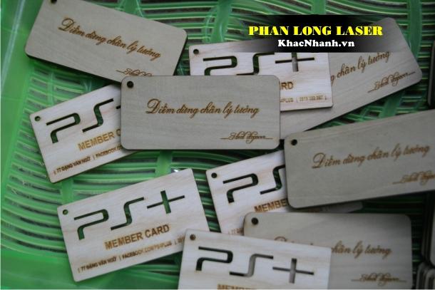 Địa chỉ Làm Name Card, Card Visit Danh thiếp bằng gỗ lấy liền giá rẻ