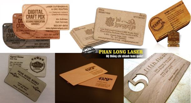Địa chỉ Làm name card và làm danh thiếp bằng gỗ theo yêu cầu tại Sài Gòn, Đà Nẵng, Hà Nội