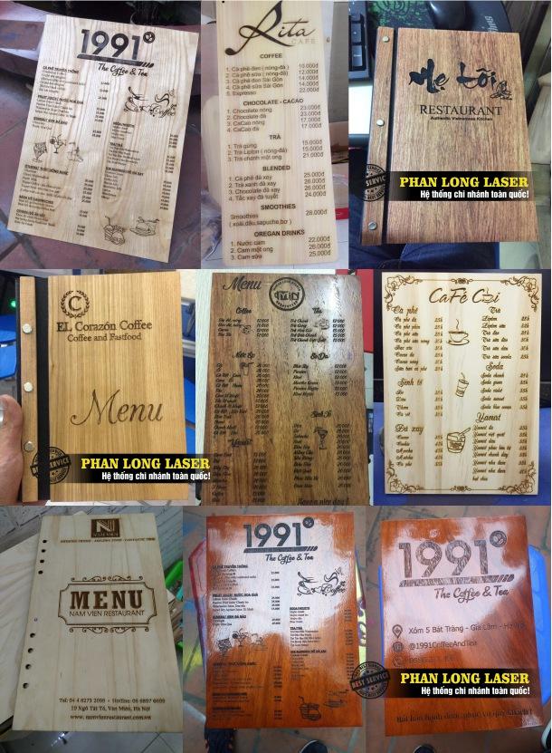 Xưởng gia công sản xuất theo yêu cầu các sản phẩm bìa menu bằng gỗ cao cấp, bìa menu gỗ Vip giá rẻ