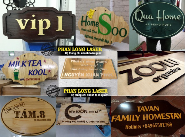 Địa chỉ cơ sở chuyên nhận làm biển số nhà kết hợp với làm biển hiệu quảng cáo giá rẻ trên toàn quốc