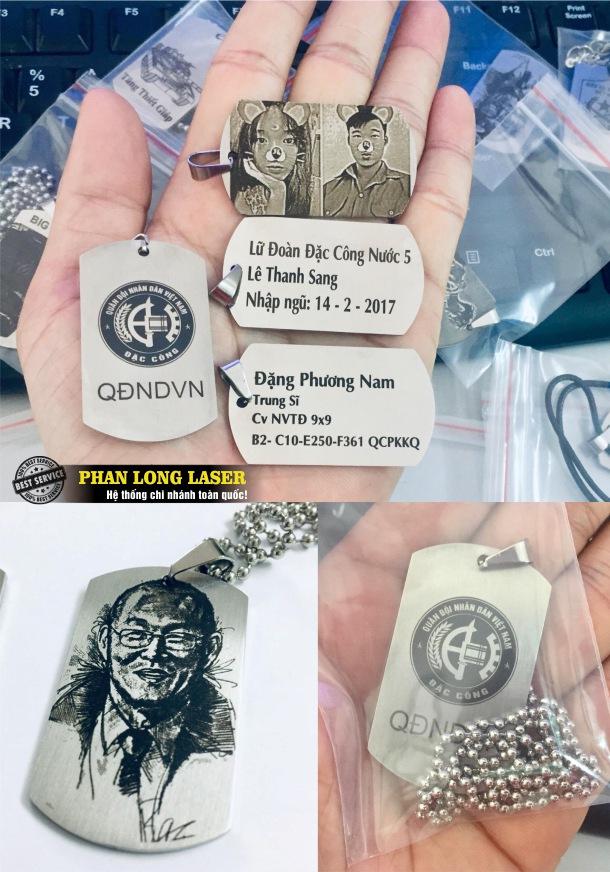 Sản xuất thẻ bài quân đội, thẻ bài quân nhân Lính Mỹ dogtag bằng inox cao cấp