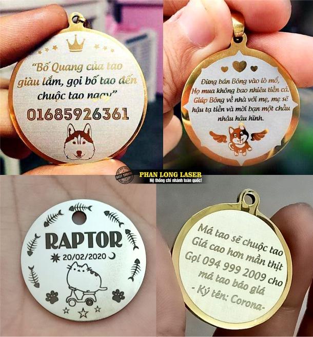 Xưởng sản xuất thẻ bài thú cưng, thẻ tên vật nuôi pettag theo yêu cầu lấy liền giá rẻ toàn quốc