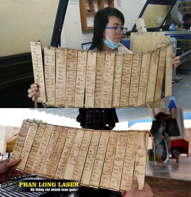 Chúng tôi làm menu bằng gỗ, Thực Đơn bằng Gỗ cho rất nhiều quán ăn nổi tiếng trên địa bàn các thành phố