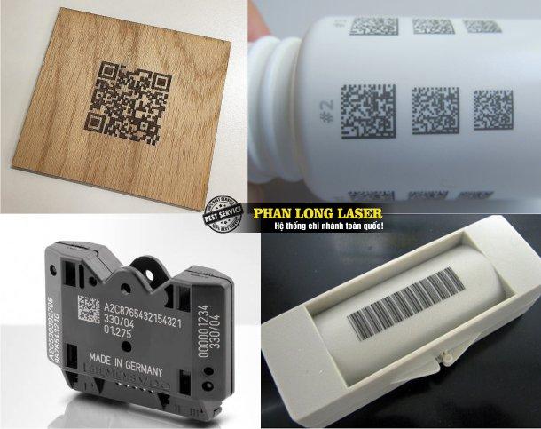 Công ty nhận In Khắc Logo, In Khắc Mã Vạch, In Khắc mã QR code, In khắc thông số kỹ thuật bằng máy laser lên mọi vật liệu