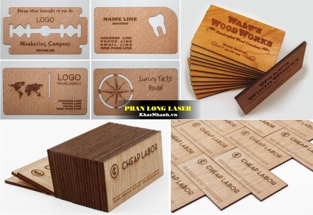 Địa chỉ Làm Card Visit, Name Card, Danh thiếp bằng gỗ tại Hà Nội và Cần Thơ