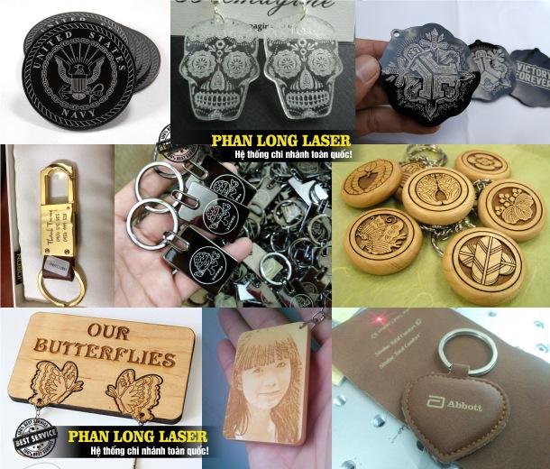 Xưởng Khắc laser, khắc logo hoa văn, khắc hình lên móc khóa gỗ, móc khóa kim loại, móc khóa nhựa mica, móc khóa da tại Quận 5 Sài Gòn