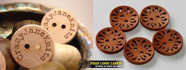 Địa chỉ Làm cúc áo gỗ khắc laser