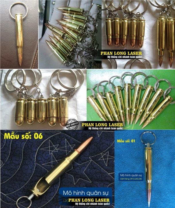 Móc khóa vỏ đạn khắc tên, móc khóa vỏ đạn khắc chữ, móc khóa vỏ đạn khắc logo hoa văn khắc hình rồng phượng tại Hà Nội