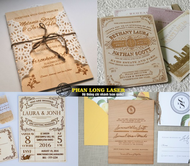Địa chỉ Làm thiệp cưới bằng gỗ, thiệp mời bằng gỗ tại Tp Hồ Chí Minh, Hà Nội, Đà Nẵng, Cần Thơ