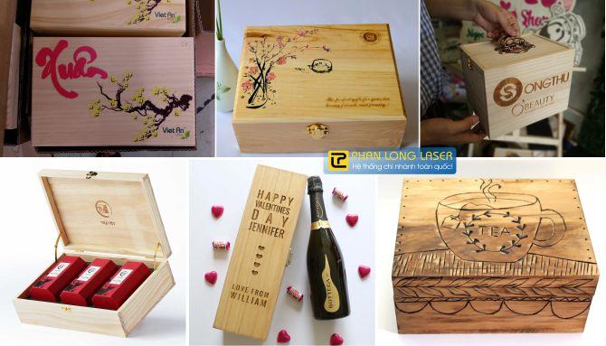 Xưởng sản xuất hộp gỗ hộp rượu và khắc gia công theo yêu cầu lên hộp gỗ hộp rượu