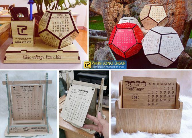 Địa chỉ nhận thiết kế và sản xuất làm lịch gỗ theo yêu cầu giá rẻ