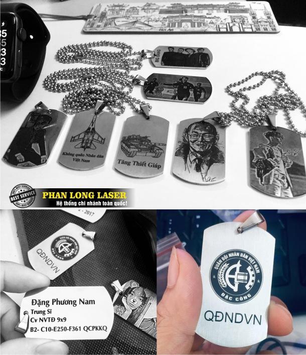 Khắc laser hình ảnh chân dung lên thẻ bài quân đội Lính Mỹ Dogtag