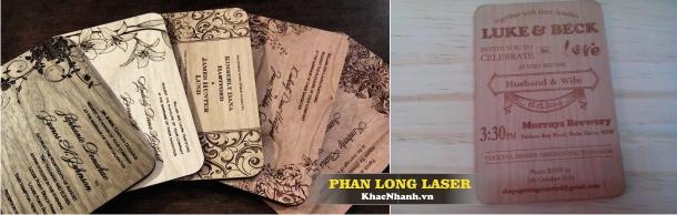 Nhận tư vấn thiết kế thiệp cưới bằng gỗ, Thiệp mời bằng gỗ giá rẻ