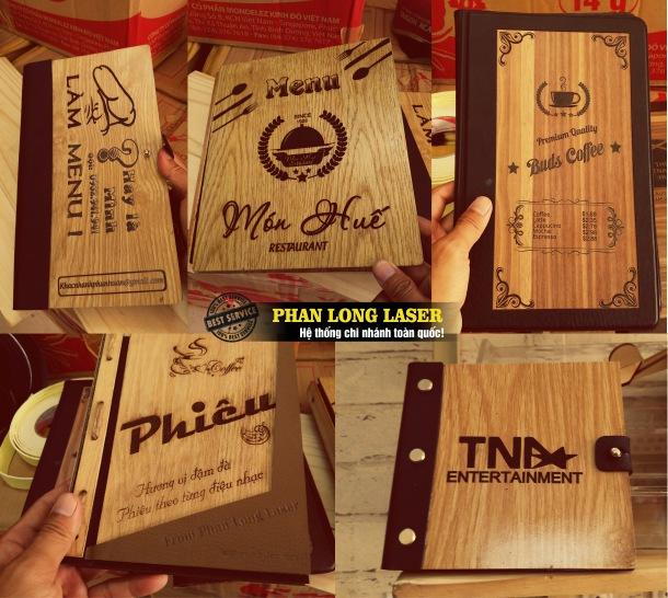 Địa chỉ xưởng chuyên nhận làm và sản xuất các sản phẩm menu bằng gỗ theo yêu cầu giá rẻ