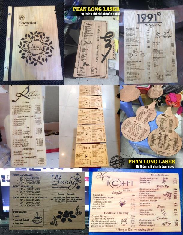 Công ty chuyên nhận làm menu bằng gỗ giá rẻ và uy tín trên toàn quốc