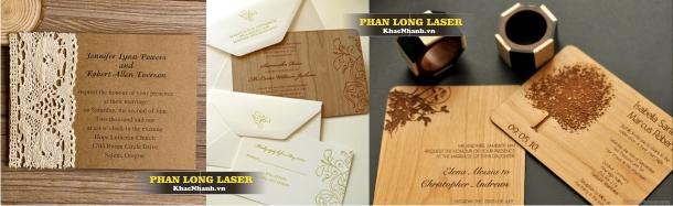 Địa chỉ Thiết kế thiệp cưới, danh thiếp bằng gỗ tại TPHCM Hà Nội & Cần Thơ