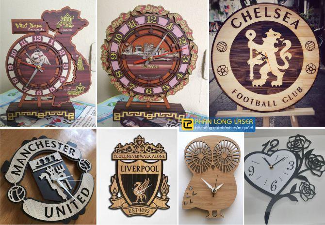 Sản xuất làm đồng hồ gỗ mica dựa theo ý tưởng cá nhân