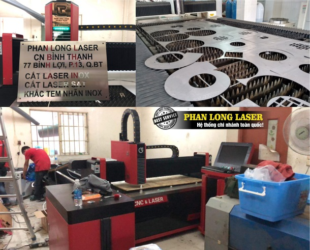 Xưởng nhận Cắt Laser trên Kim Loại inox đồng nhôm sắt thép tại Quận Bình Thạnh Tphcm Lấy liền