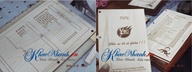 Nhận làm menu bằng gỗ cho quán cafe, quán ăn, nhà hàng ở Hà Nội