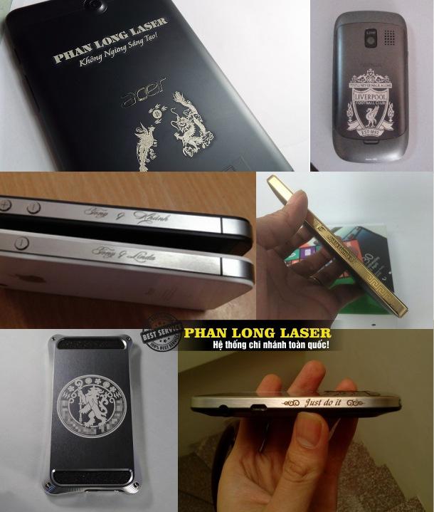 Khắc chân dung, khắc hình ảnh, khắc thư pháp lên vỏ điện thoại và viền điện thoại kim loại tại Hà Nội