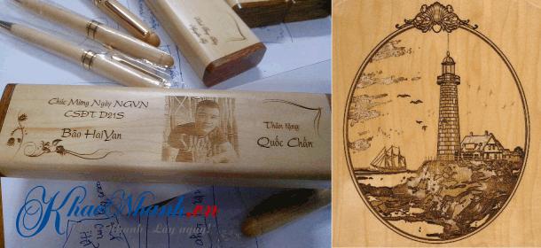 Khắc ảnh trên gỗ tại Gia Lâm Hà Nội bằng Laser
