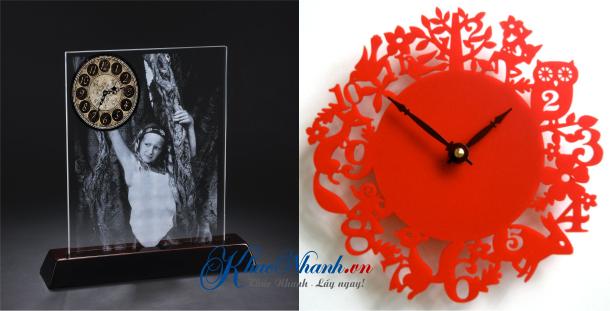 Khắc hình lên đồng hồ mica tại Hà Nội giá rẻ
