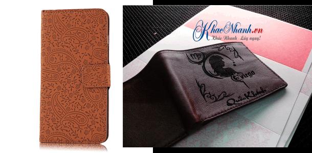 Một vài sản phẩm bằng da mà chúng tôi khắc cho khách hàng tại Thanh Xuân Hà Nội