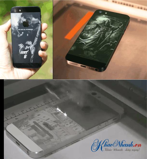 Nhận khắc gia công laser Iphone cho khách hàng tại Hà Đông Hà Nội