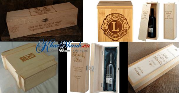 Khắc laser trên hộp gỗ hộp rượu tại Gò Vấp tpHCM