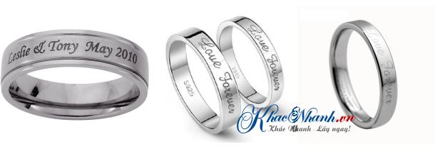 Khắc laser lên nhẫn bạc nhẫn cưới nhẫn vàng nhẫn inox ở đâu?