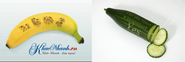 Khắc nghệ thuật trên quả Chuối và Dưa Chuột ở Tân Bình Sài Gòn