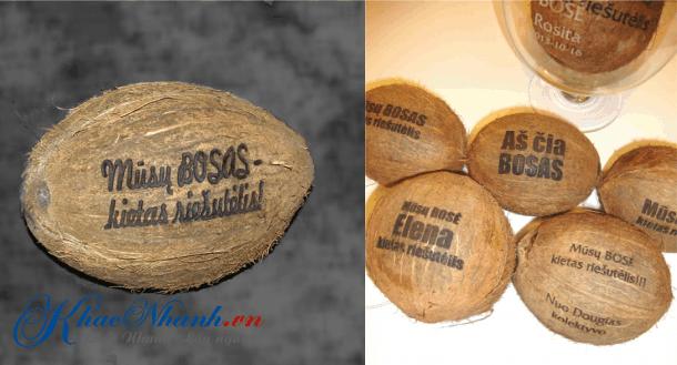 Khắc trái dừa giá rẻ