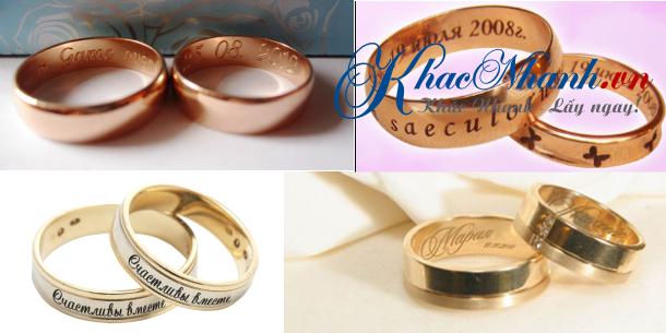 Khắc nhẫn cưới nhẫn vàng nhẫn bạc ở đâu tại Sài Gòn