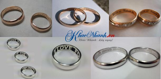 Nhẫn vàng nhẫn bạc nhẫn cưới nhẫn inox khắc tên ở đâu?