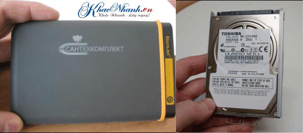 Khắc laser lên trên ổ lưu trữ dữ liệu máy tính laptop