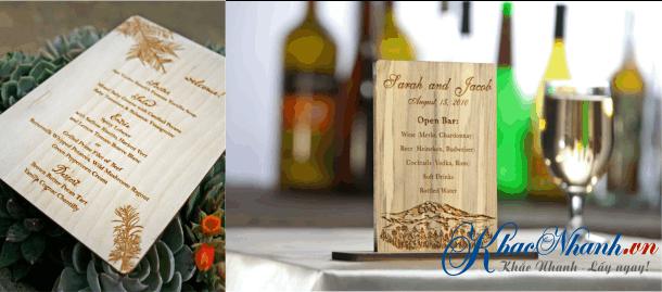 Địa chỉ làm thực đơn gỗ menu bằng gỗ cho khách hàng tại Hà Đông Hà Nội