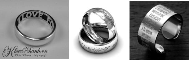 Dịch vụ khắc chữ lên Nhẫn bạc ở Quận Cầu Giấy Hà Nội