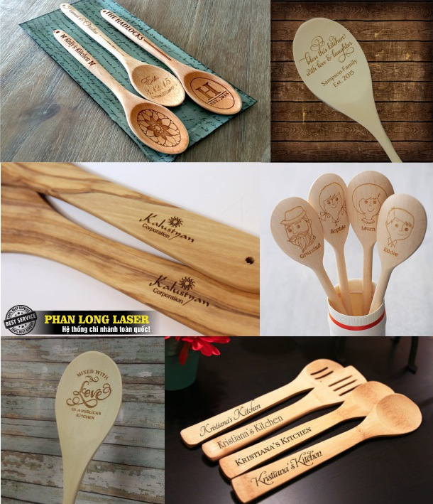 Khắc logo, khắc chữ, khắc tên, khắc hoa văn lên dao thìa muỗng nĩa